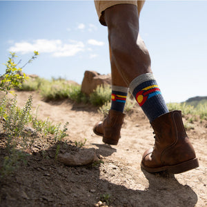 Ouray Colorado Flag Socks
