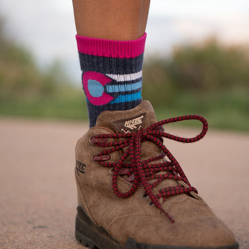 The Costilla Colorado Flag Socks