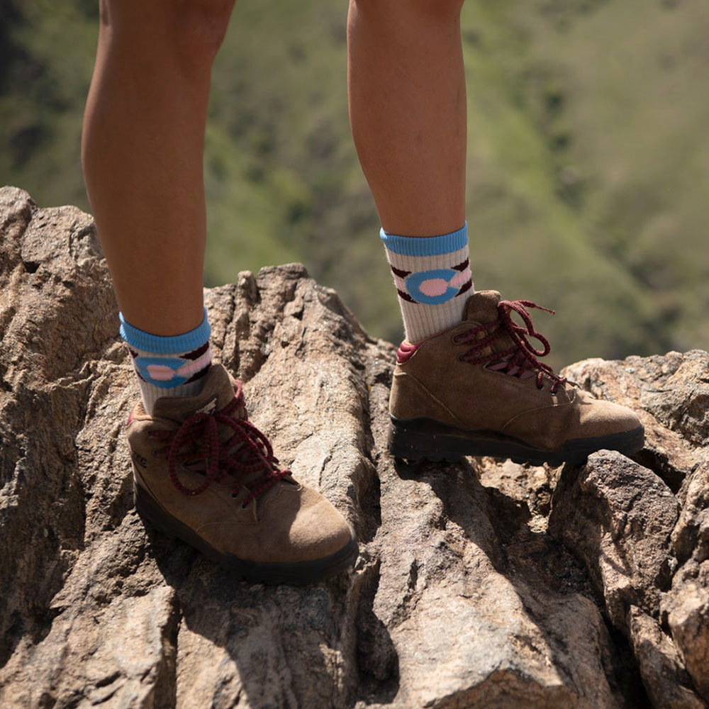 Maroon Bells Colorado Flag Wool Socks