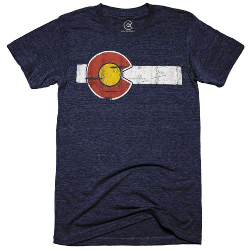 Classic Colorado Flag Navy T-Shirt