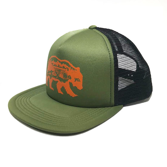 f1941cdeed54c The Wanderer Trucker Flat Bill Hat
