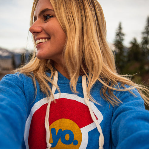 YoColorado Logo Hoodie - Heather Royal Blue