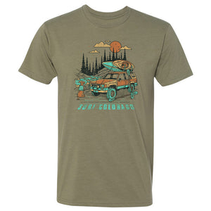 Surf Colorado Kayak T-Shirt - Army Green