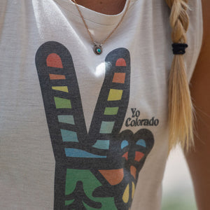 Peace Sign Colorado Ladies Flowy Muscle Tank Top
