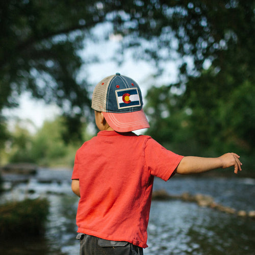 Kids' Vintage Colorado Flag Patch Hat