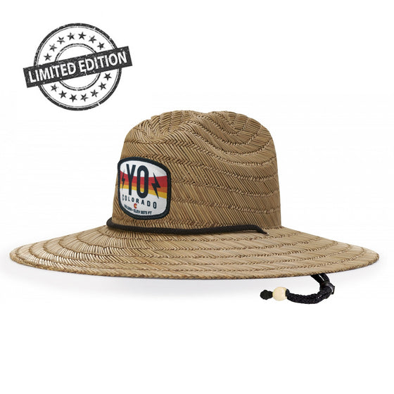 Yo Straw Lifeguard Bolt Sun Hat - LIMITED EDITION