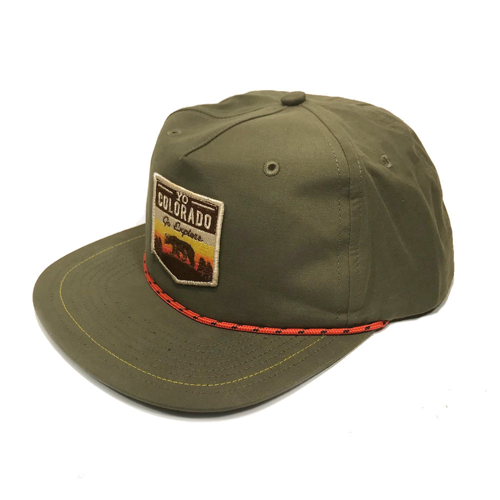 Go Explore Green Rope Snapback Hat