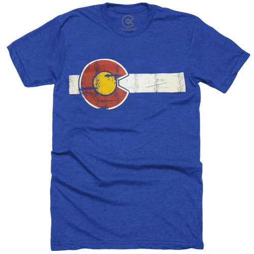 Classic Colorado Flag Royal Blue T-Shirt