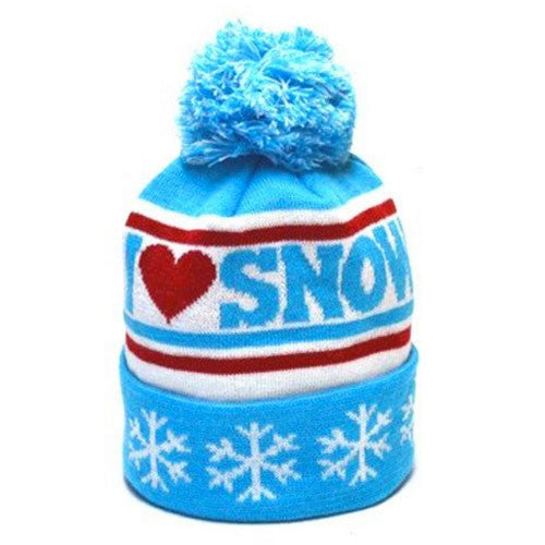 I Heart Snow Vintage Kids Beanie