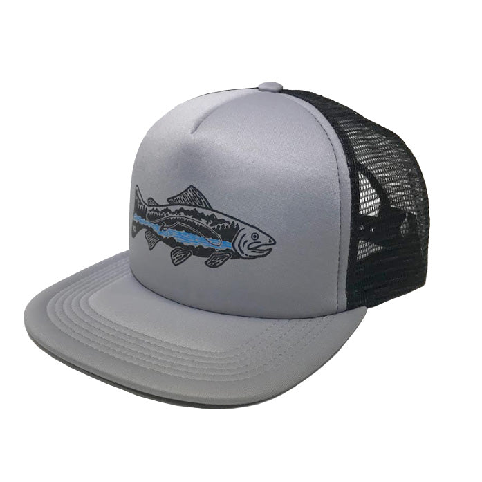 Catch and Release Trucker Flat Bill Hat