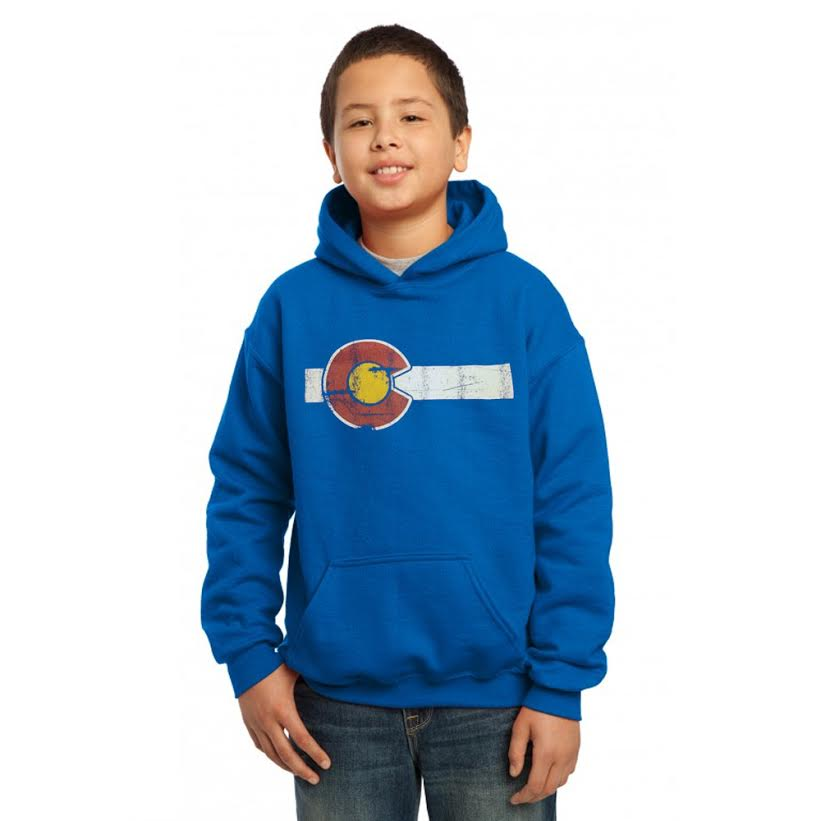 Kids' Classic Colorado Hoodie - Heather Blue