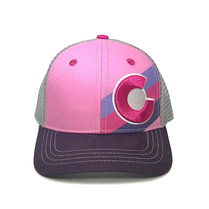 Kids' Incline Colorado Trucker Hat - Pink Berry