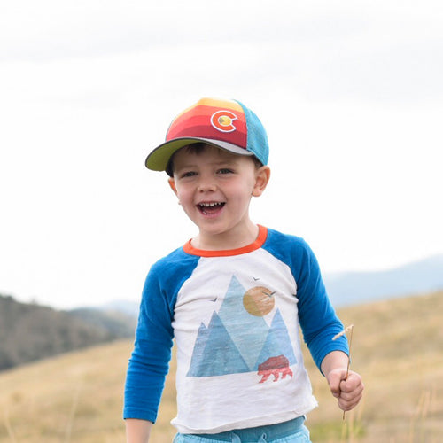 Kids' Sunset Fader Trucker Hat