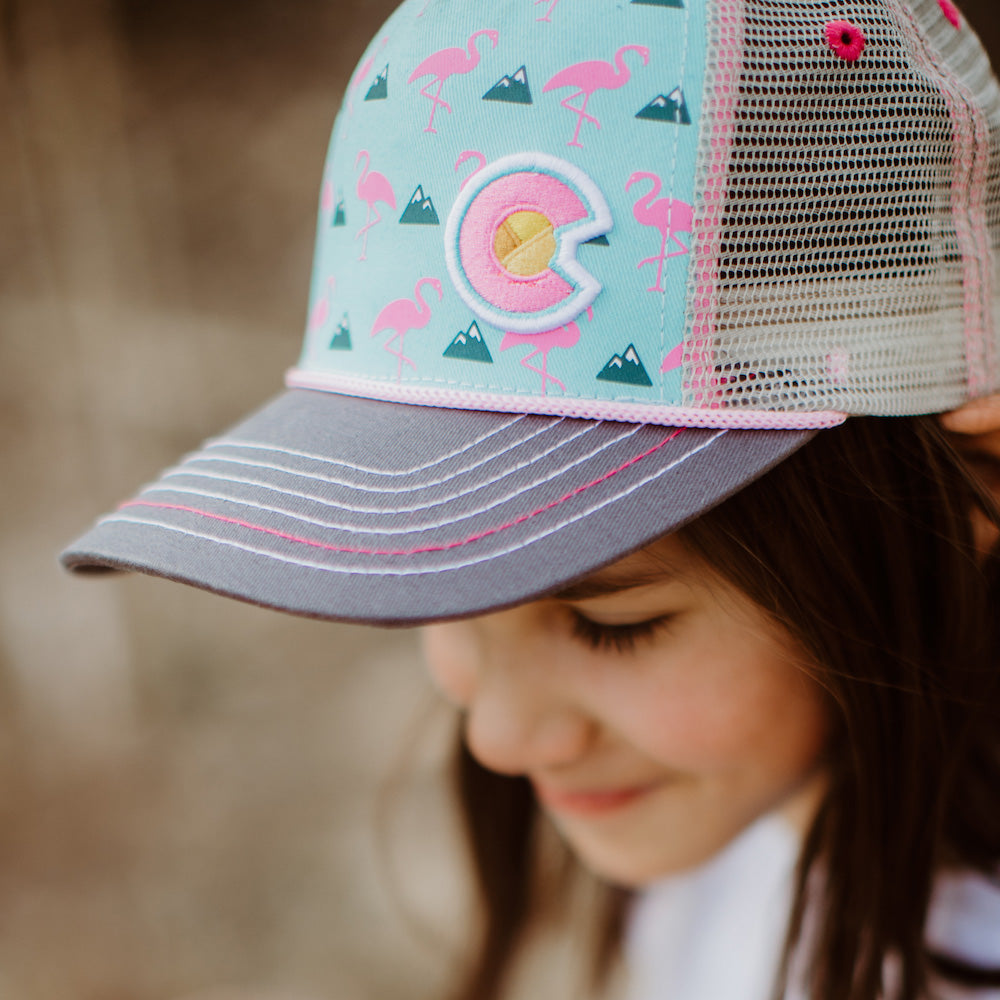 Kids' Colorado Flamingo Curve Bill Hat