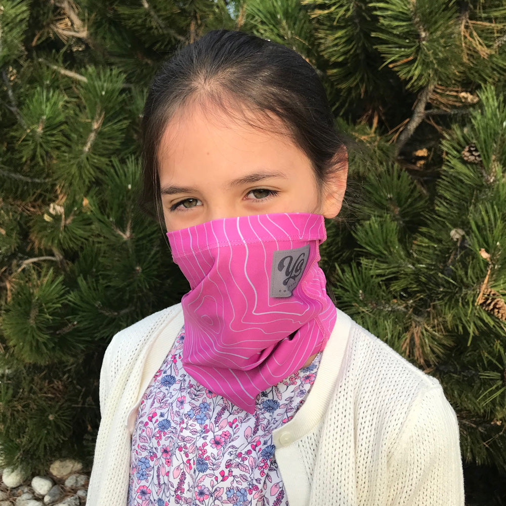Youth / Small Adult Mary Jane Topo Sunshield Multi-Purpose Face Mask