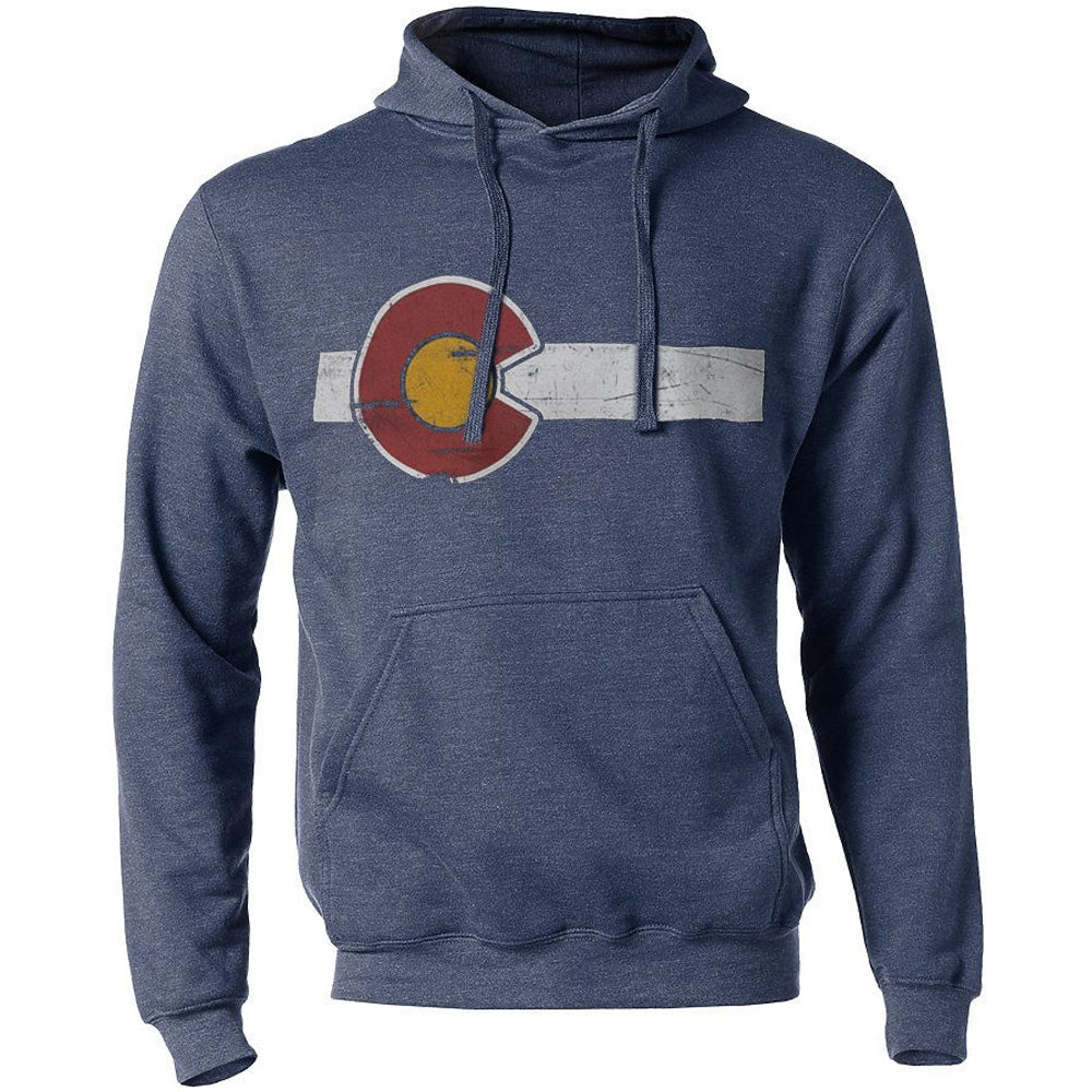 Classic Colorado Flag Hoodie - Heather Denim