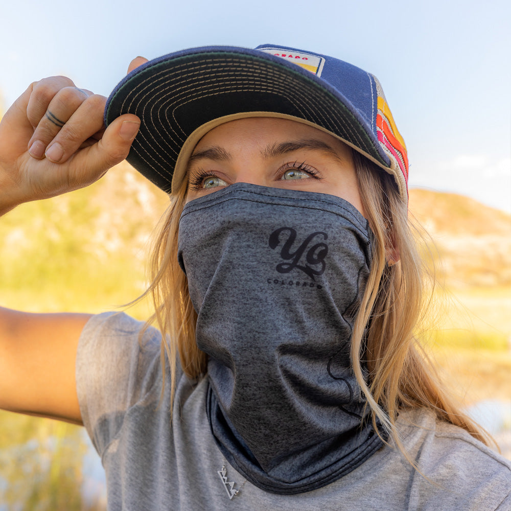 Stealth Heather Grey Multi-Purpose Face Mask