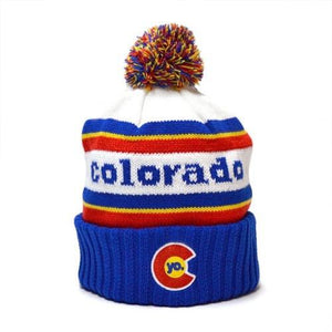 YoColorado Retro Colorado Pom Beanie