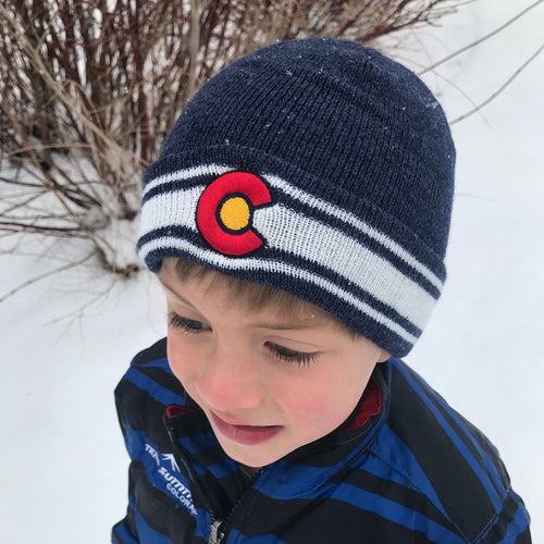 Kids Colorado Flag XC Cuff Beanie
