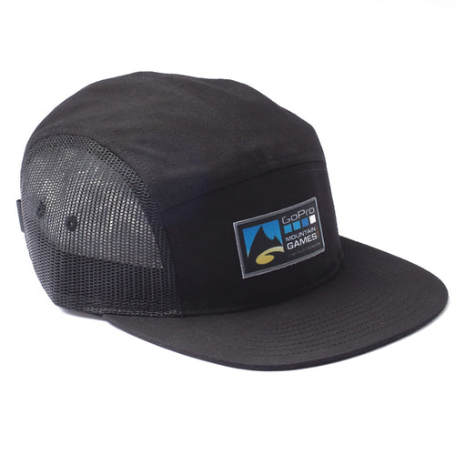 GoPro Mountain Games 5 Panel Camper Hat - Black
