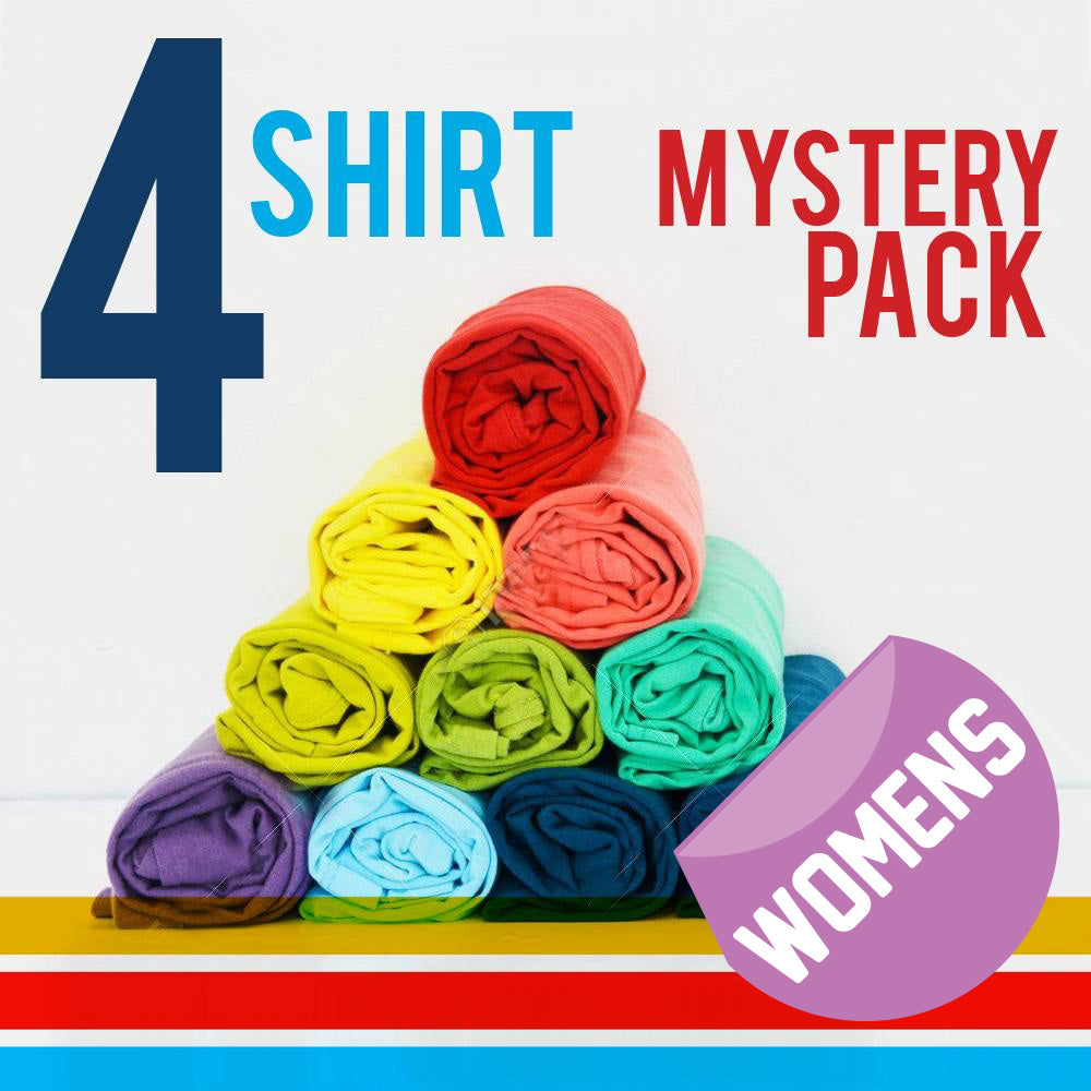 Womens Four T-Shirt Mystery Pack - 4 FOR $35
