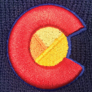 Argyle Colorado Mountain Rainbow Beanie