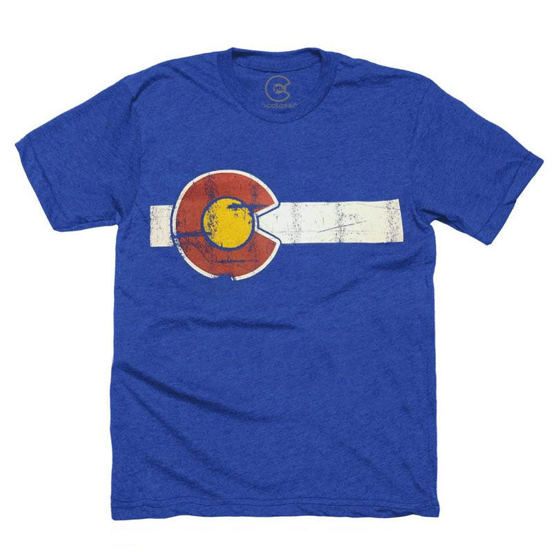 Classic Colorado Kids' Flag Royal T-Shirt