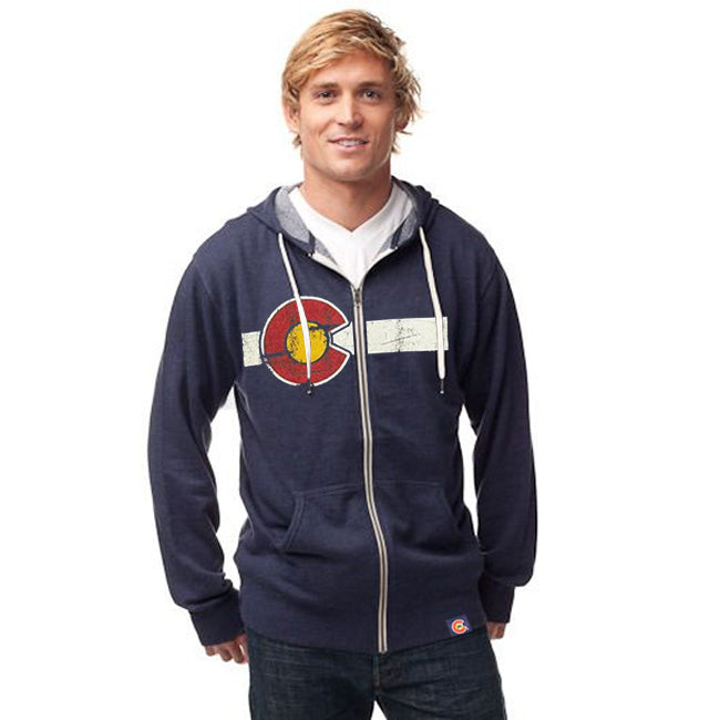 Classic Colorado Flag French Terry Zip Hoodie