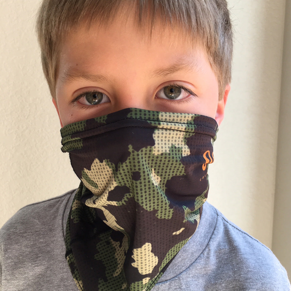 Youth / Small Adult Rogue Camo Sunshield Multi-Purpose Face Mask