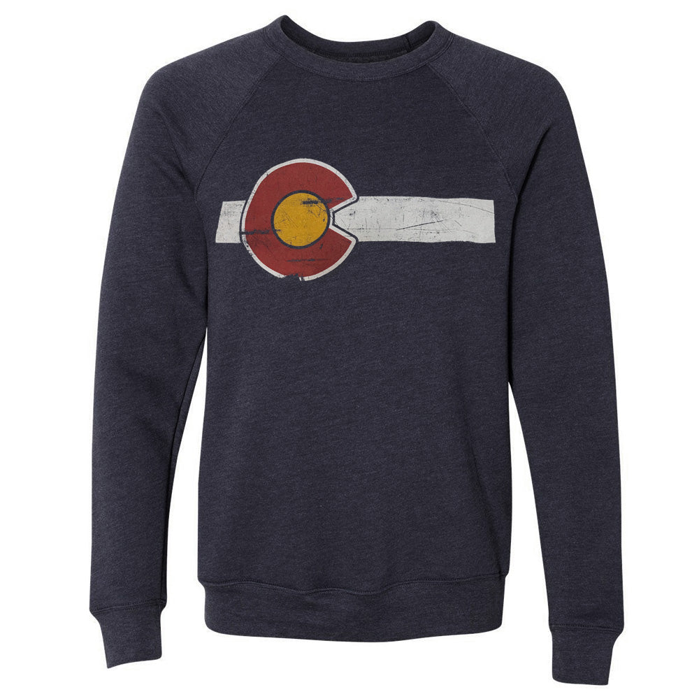 Classic Colorado Flag Unisex Crew Neck Sweatshirt
