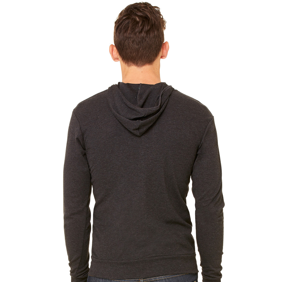 Upcycled Fader Zip Hoodie - Charcoal Black