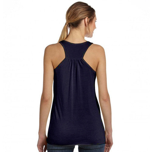 Classic Colorado Flag Women's Racerback Tank Top - Heather Midnight Navy