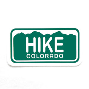Hike Colorado License Plate Sticker