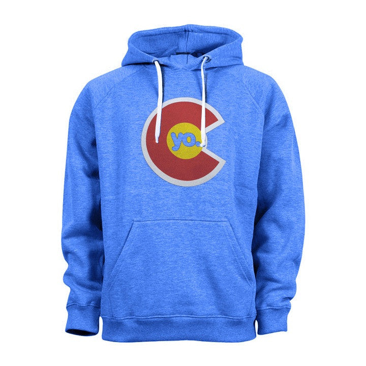 Yo Colorado Classic Flag Hoodie - Heather Blue