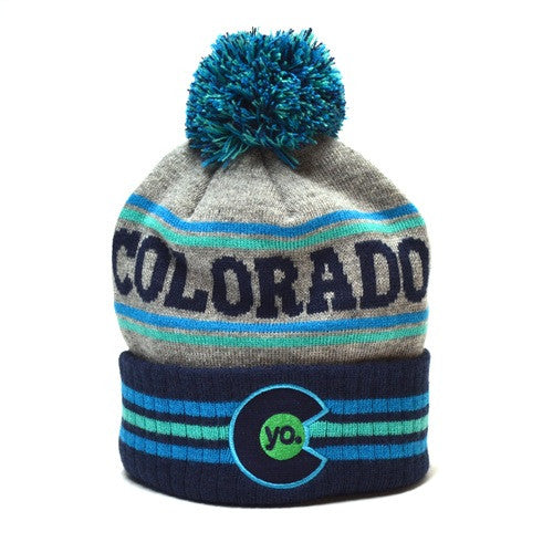 Glacier Stripes Kids Beanie