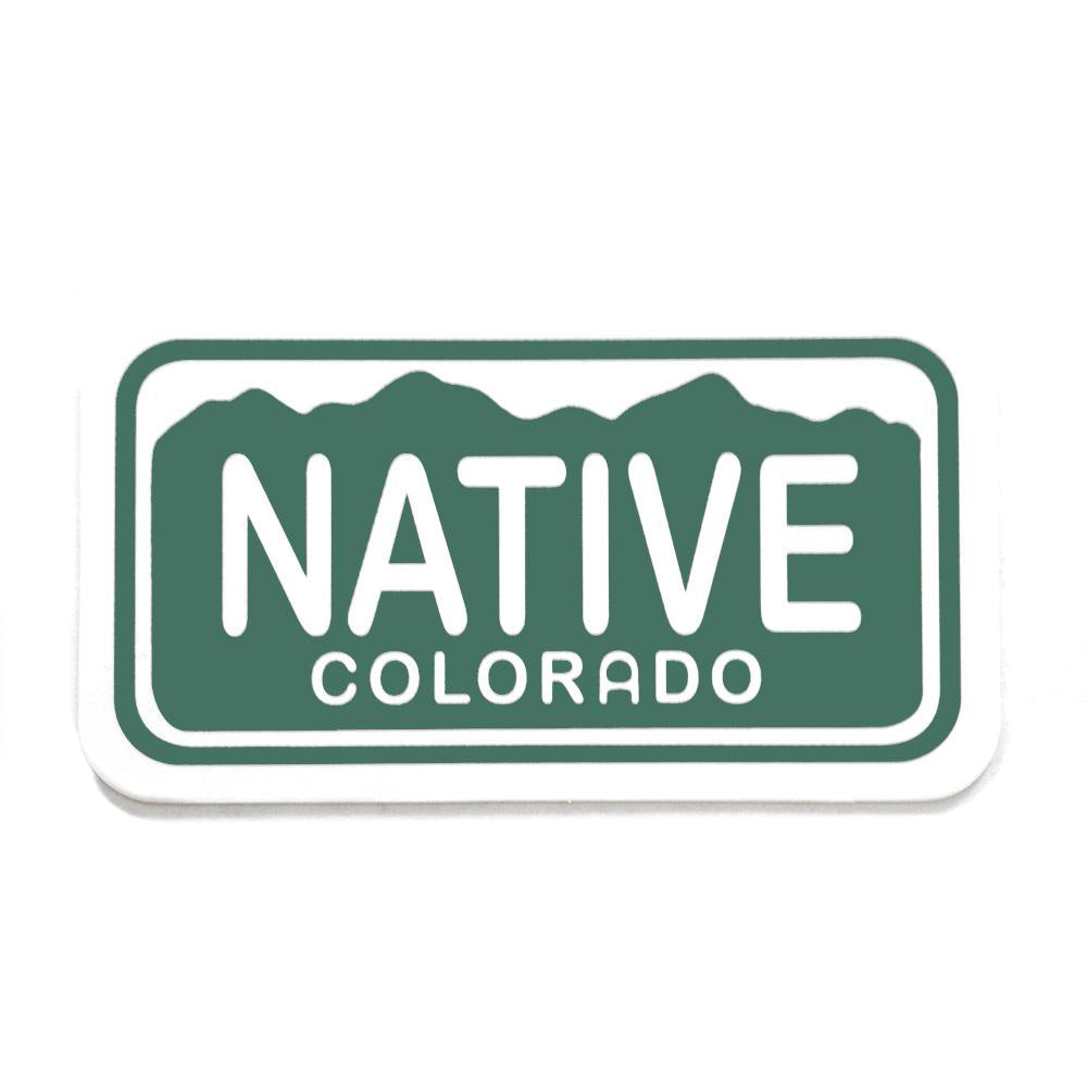 Native Colorado License Plate Sticker