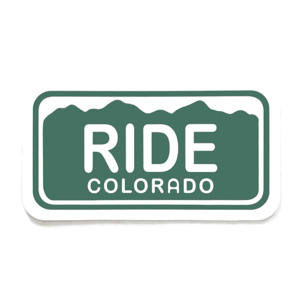Ride Colorado License Plate Sticker