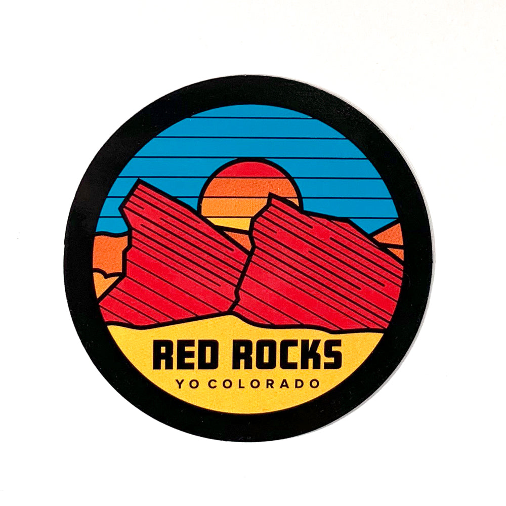 Red Rocks Sticker