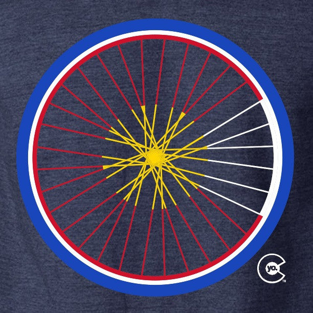 Men's Road Bike Wheel T-Shirt