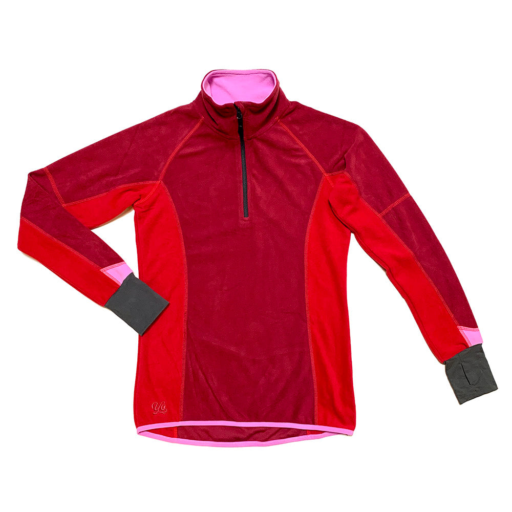 Velocity Fire Womens Quarter-Zip Fleece Jacket