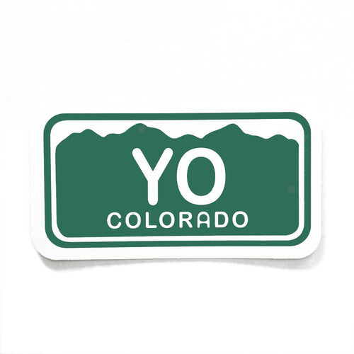 Yo Colorado License Plate Sticker