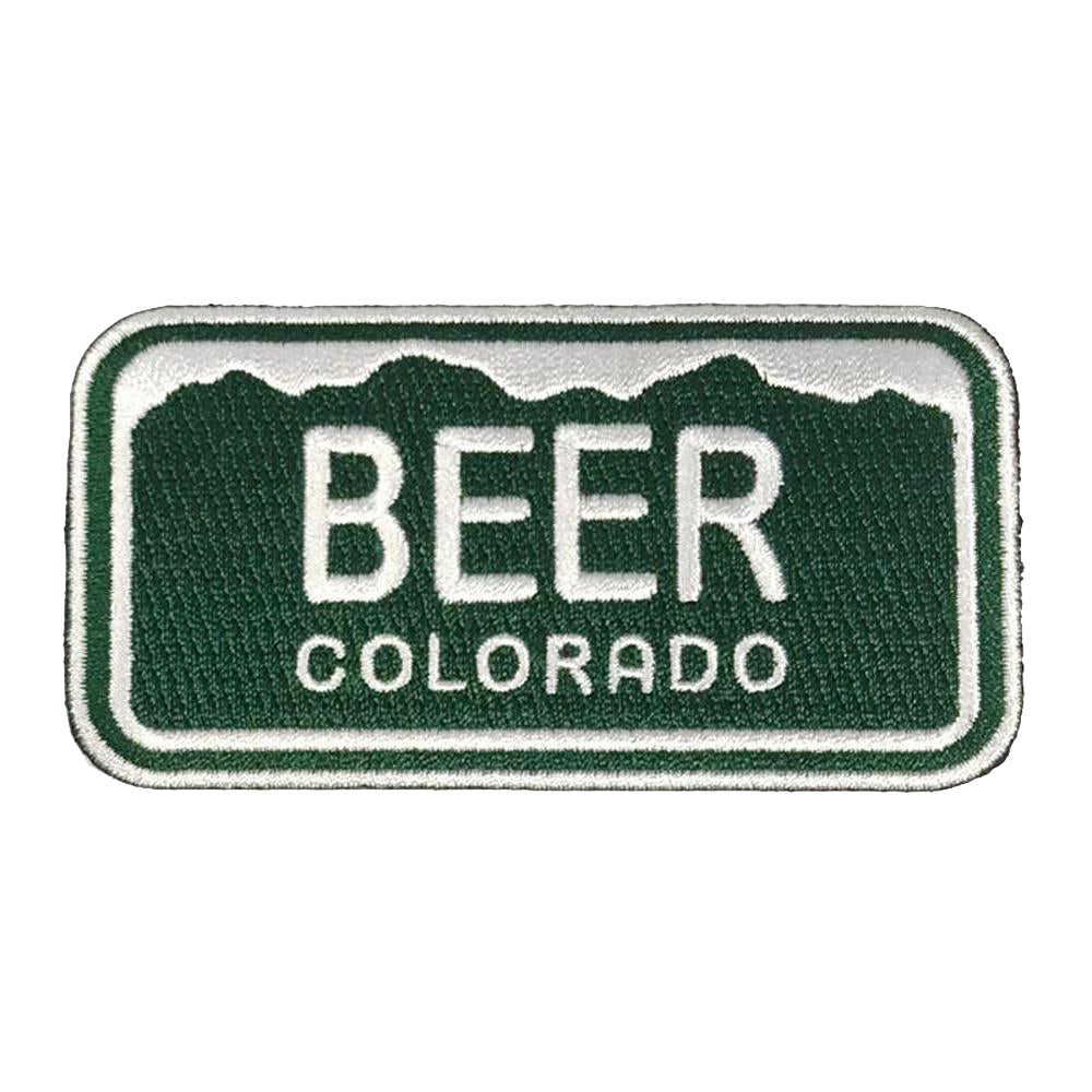 Colorado License Plate Beer Patch