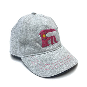 Colorado Cubby Bear Baby Girl Pink Hat