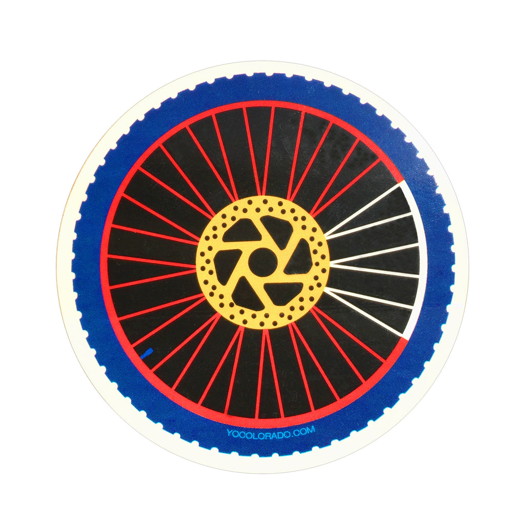 Colorado Mountain Bike Wheel Sticker