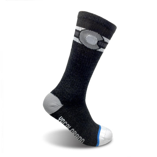 The Mono Yo Colorado Flag Wool Socks - Charcoal / Grey