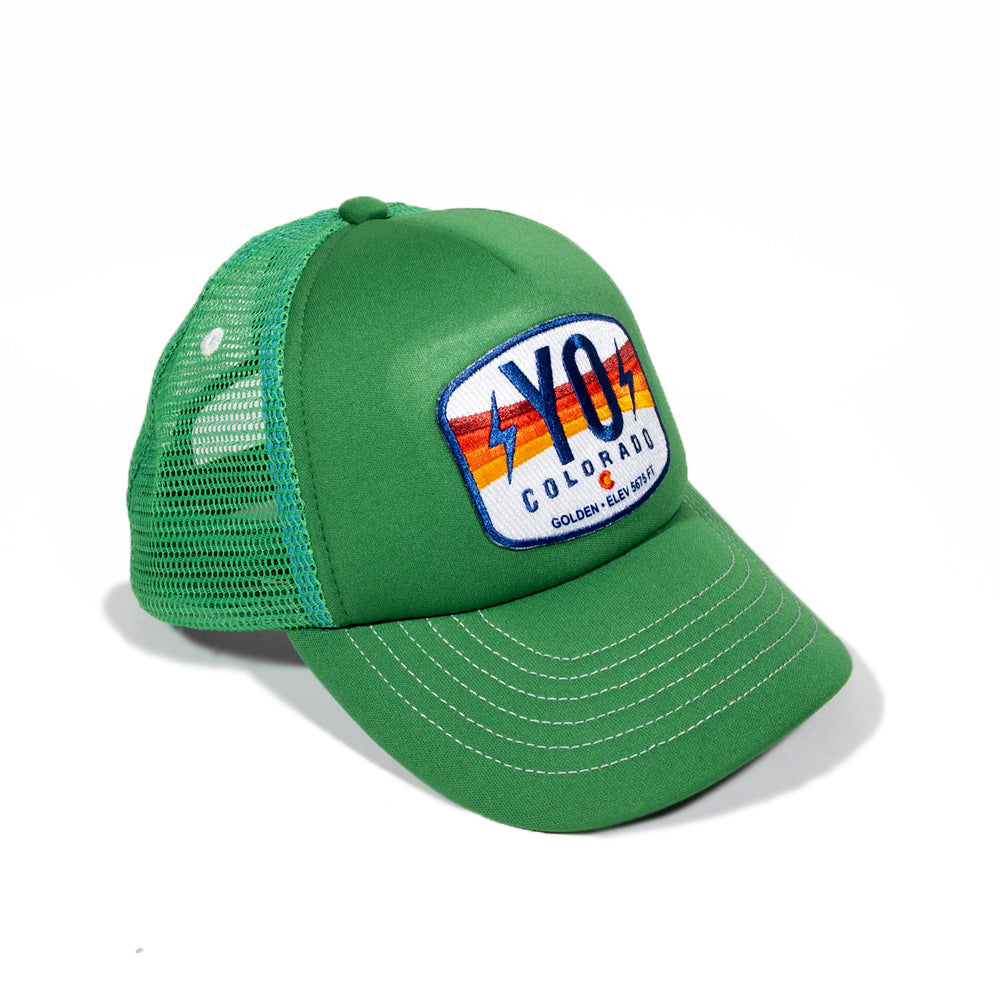 Kids Green Bolt Foam Trucker Hat