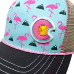 Colorado Flamingo Curve Bill Hat