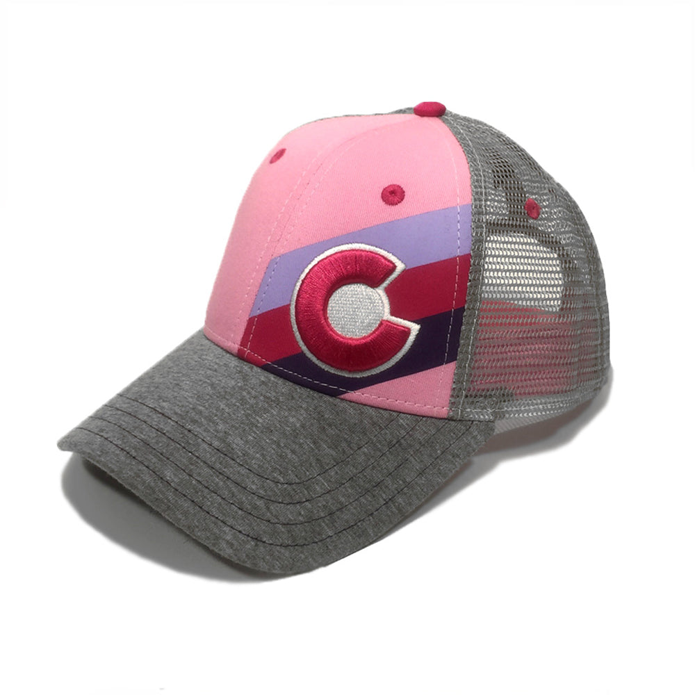 Small Fit Incline Colorado Trucker Hat - Pink Fusion