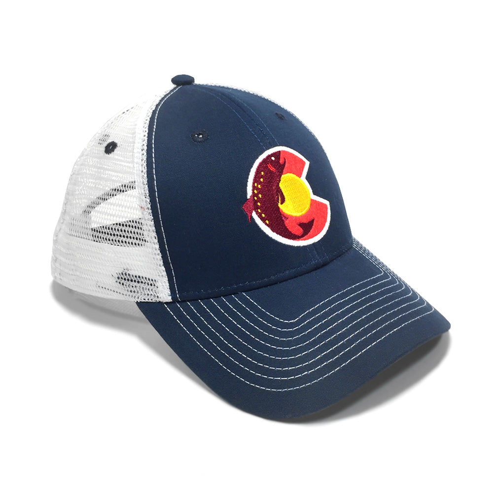 Colorado Fish Trout Trucker Hat - Navy