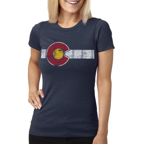 Classic Colorado Flag Women's T-Shirt Navy